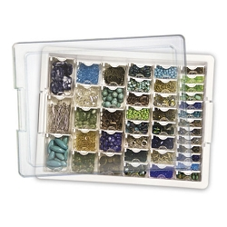 Darice - Bead Storage Solution - Case with assorted size containers