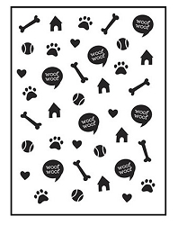 Darice Embossing Folder - (A2 Size) - Dog
