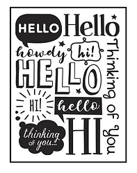 Darice Embossing Folder - (A2 Size) - Hello
