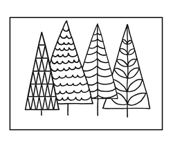 Darice Embossing Folder - (A2 Size) - Trees