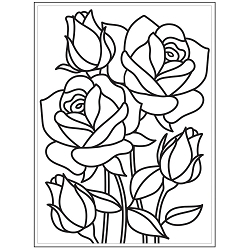 Darice Embossing Folder - (A2 Size) - Mosaic Rose