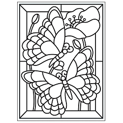 Darice Embossing Folder - (A2 Size) - Mosaic Butterfly
