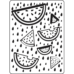 Darice Embossing Folder - (A2 Size) - Fruit Background