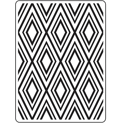 Darice Embossing Folder - (A2 Size) - Diamond Background