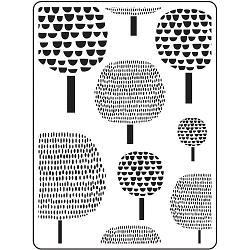 Darice Embossing Folder - (A2 Size) - Dot Trees Background