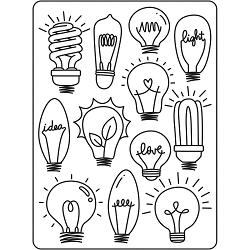 Darice Embossing Folder - (A2 Size) - Light Bulb Background