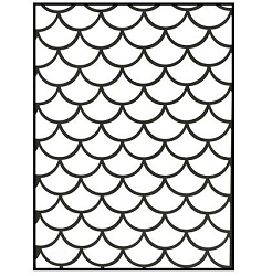 Darice Embossing Folder - (A2 Size) - Mermaid Scales