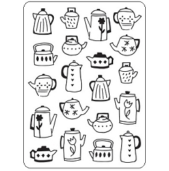 Darice Embossing Folder - (A2 Size) - Coffee Pots