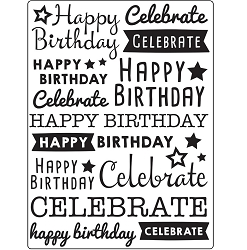 Darice Embossing Folder - (A2 Size) - Celebrate
