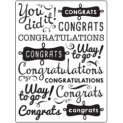 Darice Embossing Folder - (A2 Size) - Congratulations