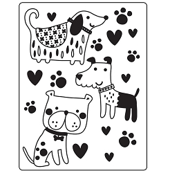 Darice Embossing Folder - (A2 Size) - Dogs