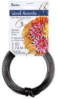 Darice - Flat Floral Wire Accents - Black (3 Yds)