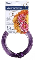 Darice - Flat Floral Wire Accents - Purple (3 Yds)