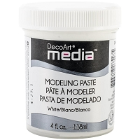 DecoArt - Mixed Media System - White Modeling Paste DMM21 (4 fl oz)
