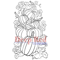 Deep Red Stamps - Cling Stamp - Pumpkin Patch