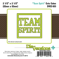 Die-Versions Die - Cute Cubes - Team Spirit