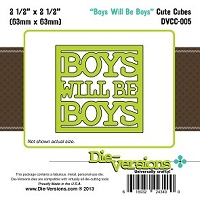 Die-Versions Die - Cute Cubes - Boys Will Be Boys