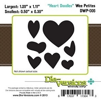 Die-Versions Die - Wee Petites - Heart Doodles
