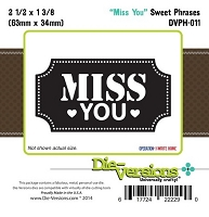 Die-Versions Die - Sweet Phrases - Miss You
