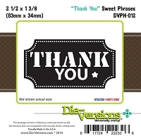 Die-Versions Die - Sweet Phrases - Thank You