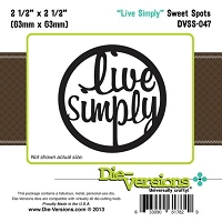 Die-Versions Die - Sweet Spots - Live Simply