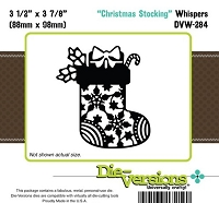 Die-Versions Die - Whispers - Christmas Stocking