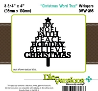 Die-Versions Die - Whispers - Christmas Word Tree