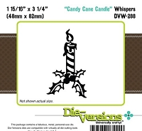 Die-Versions Die - Whispers - Candy Cane Candle