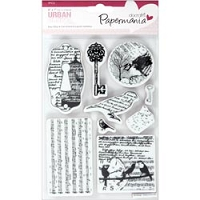 DoCrafts - Papermania Cling Urban Stamps Set - Bird Print