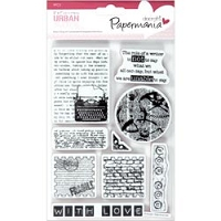 DoCrafts - Papermania Cling Urban Stamps Set - Type Print :)
