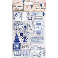 DoCrafts - Papermania Cling Urban Stamps Set - Vintage