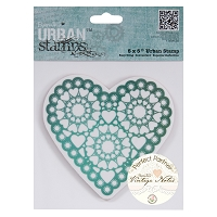 DoCrafts - Papermania Urban Cling Stamp - Vintage Notes - Hearts