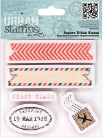 DoCrafts - Papermania Cling Urban Stamp - Air Mail