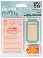 DoCrafts - Papermania Cling Urban Stamp - All Aboard