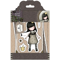 Do Crafts - Simply Gorjuss Little Things - Cling Mounted Rubber Stamp - My Own Universe