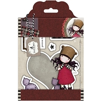 Do Crafts - Simply Gorjuss Little Things - Cling Mounted Rubber Stamp - Purrrrrfect Love