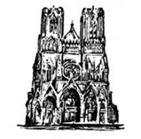 Donna Salazar Cling Stamp- cathedral
