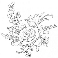 Donna Salazar Cling Stamp -Cake Box Flowers