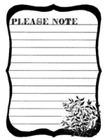 Donna Salazar-Cling Mounted Rubber Stamp-Please Note