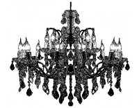 Donna Salazar Cling Stamp - Christmas Dinner (Chandelier)