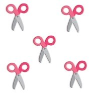Doodlebug Oodles - Braddies (5/pkg) - Scissors Bubblegum