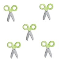 Doodlebug Oodles - Braddies (5/pkg) - Scissors Limeade