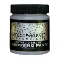 Dreamweaver Metallic Silver Stencil Embossing Paste