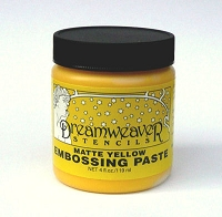 Dreamweaver Matte Yellow Stencil Embossing Paste