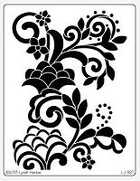 Dreamweaver Jumbo Metal Stencil - Floral with Dots