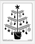 Dreamweaver Giant Metal Stencil - Beach Christmas Tree