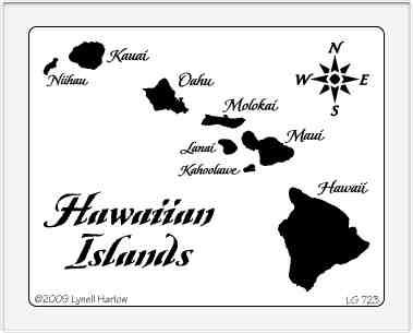 Dreamweaver Giant Metal Stencil Hawaiian Islands
