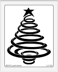 Dreamweaver Giant Metal Stencil - Coil Christmas Tree