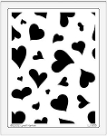 Dreamweaver Jumbo Metal Stencil - Heart Background