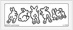 Dreamweaver Large Brass Stencil - Bunny Butts